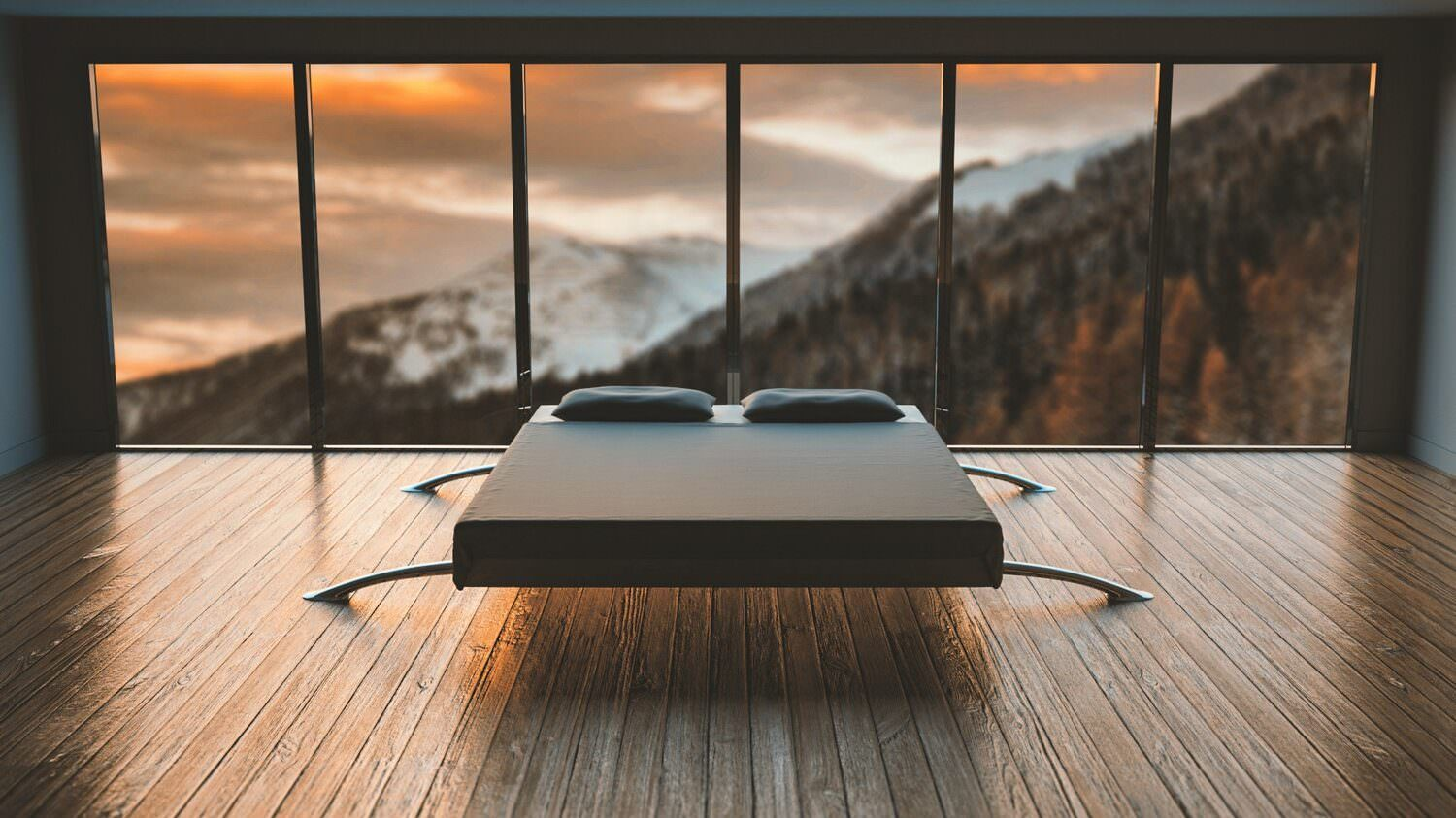 white-and-black-mattress-fronting-the-mountain-775219
