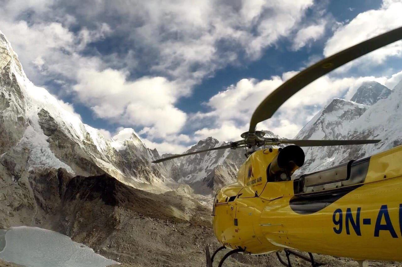 Helicopter to Mt. Everest Base Camp